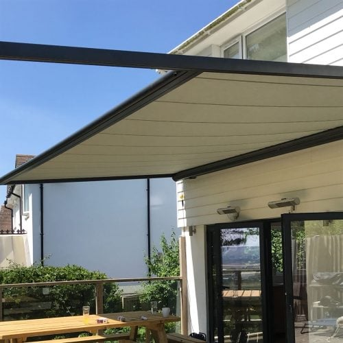 Retractable Roof Pergola - Retractable Roof Pergola Radiant Blinds And Awnings